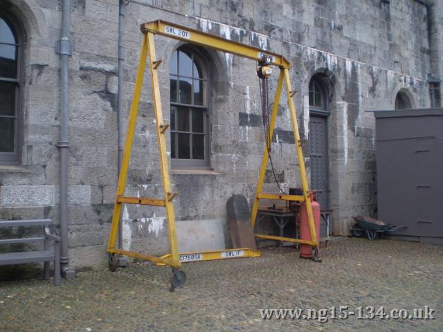 The portal lifting frame at Penrhyn Castle (Photo: P Randall)