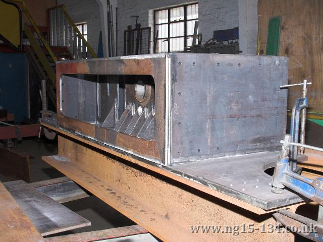 The new rear dragbox being constructed by Brunswick Ironworks. (Photo: Laurence Armstrong)