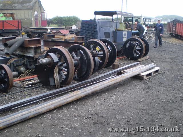 The loco wheels at Boston Lodge for reproflling (Photo: Peter Randall)
