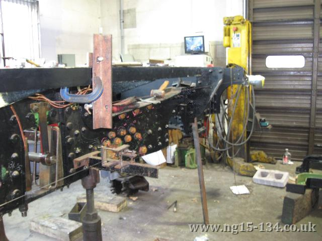 Working on the new cab and running board supports. (Photo: Terry Rowe