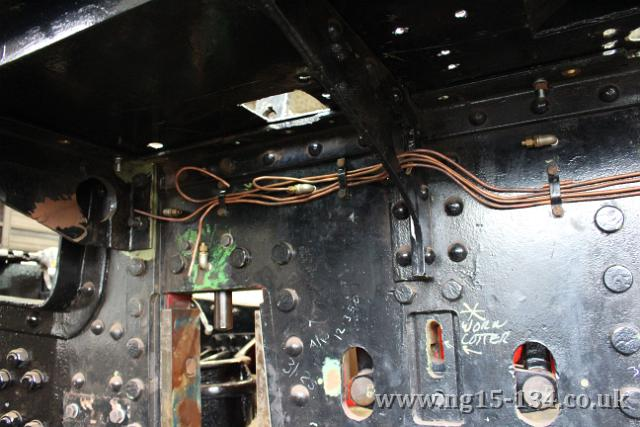 The driver's side pipework run, still looking a bit messy at this stage.